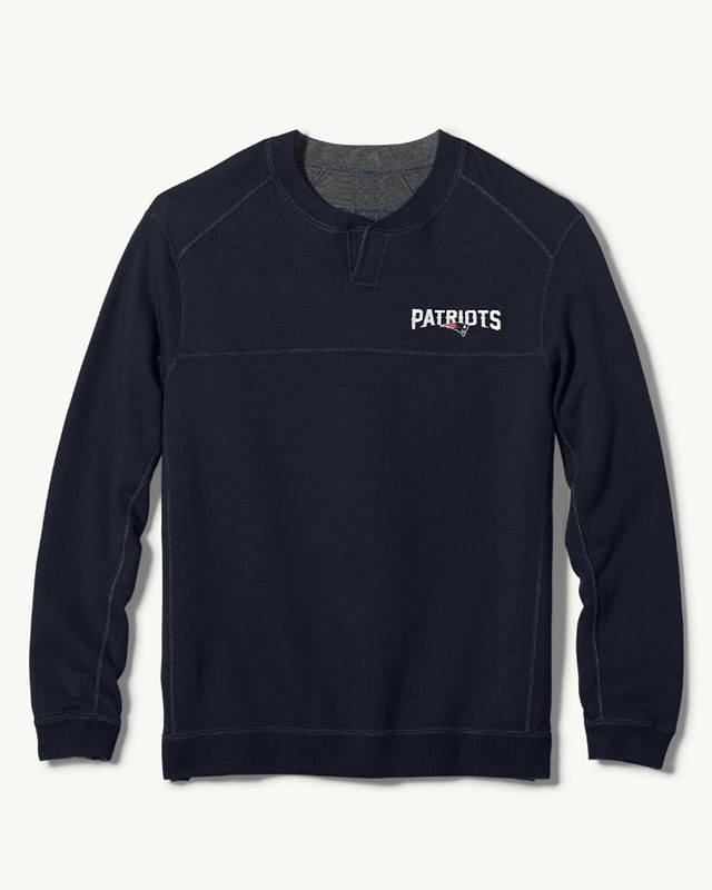 promo code 7d0d9 6c539 Details about Tommy Bahama Mens NFL Flipside Goal Abaco Patriots Pullover  Navy 2XL New