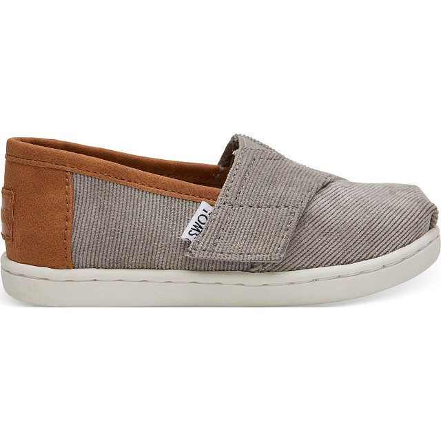 Toms Classic Micro Corduroy/Synthetic Leather Cement