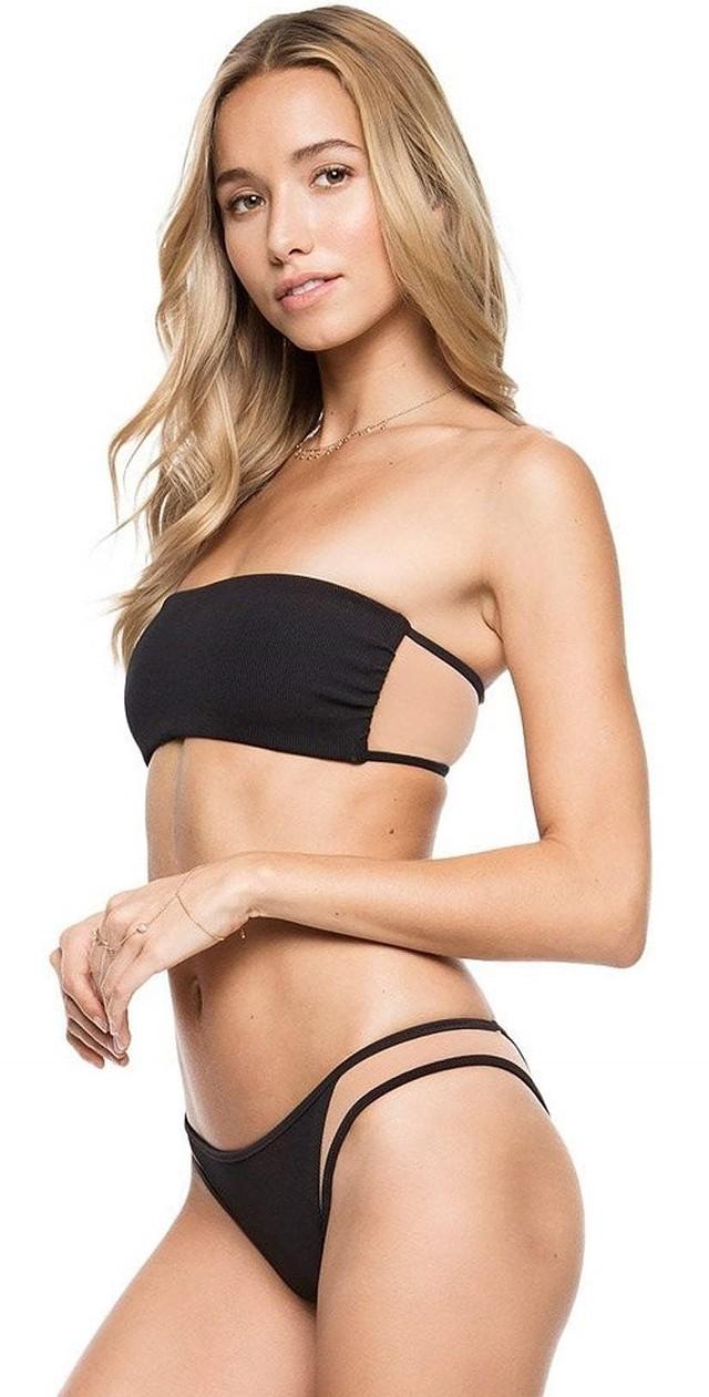 Tori Praver Femme Manon Cheeky Bikini Bottom noir//nude XS NEUF