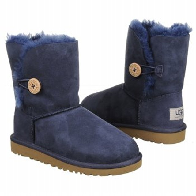 Ugg Kids Bailey Button Navy Blue