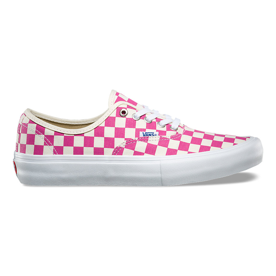 Authentic Pro Skate - (Checkerboard) FuchsiaMens - Flying Point Surf d2c29d70a