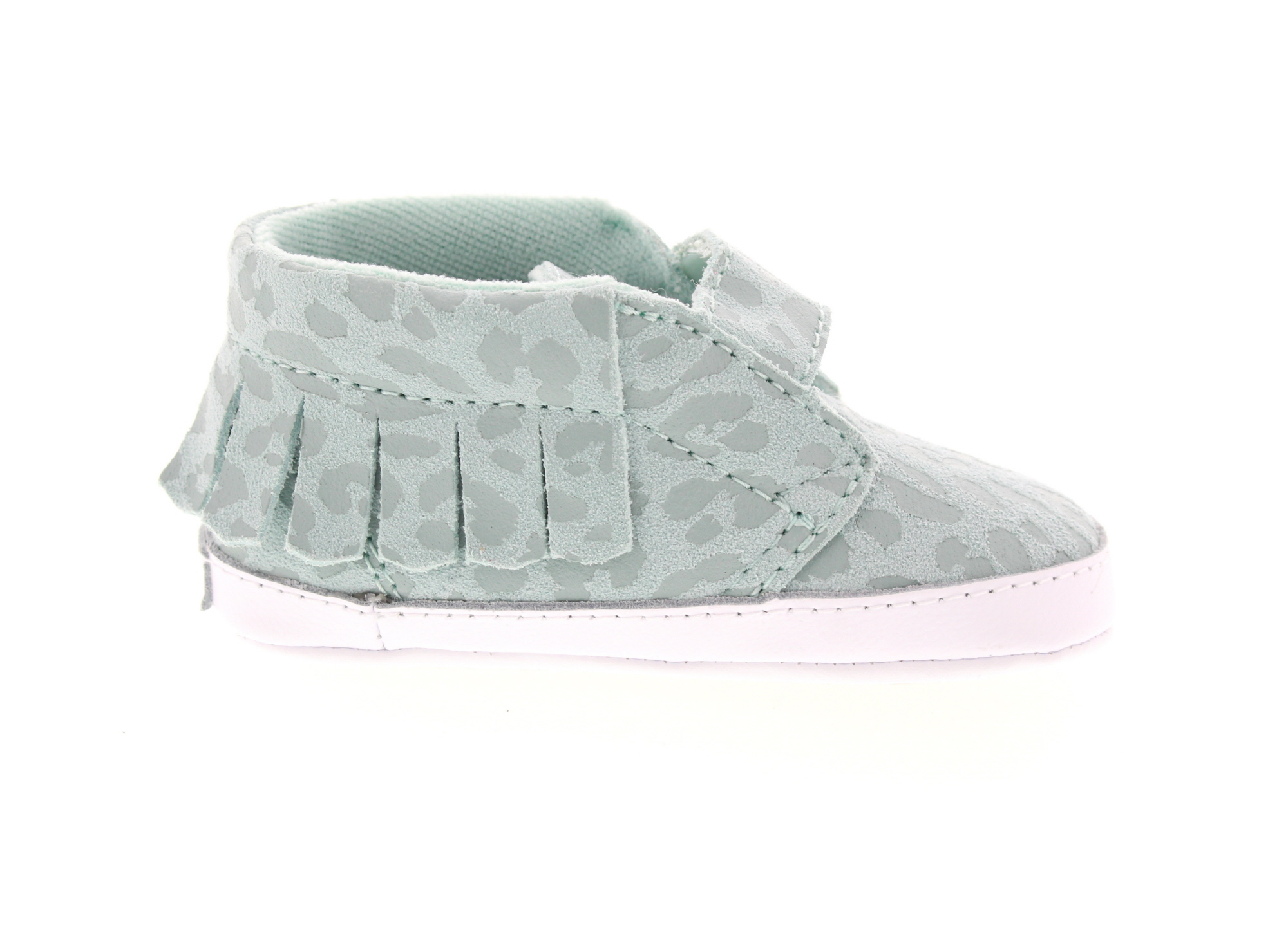 4e91e193139 Chukka V Moc Crib - (Leopard Suede) Harbor GreyBaby - Flying Point Surf