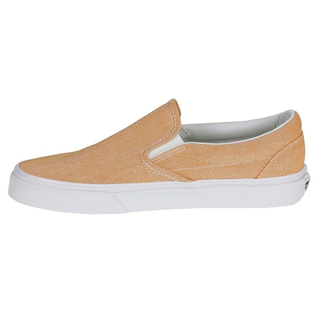 p Vans Classic Slip-On (Chambray) Coral True White  19ad94189
