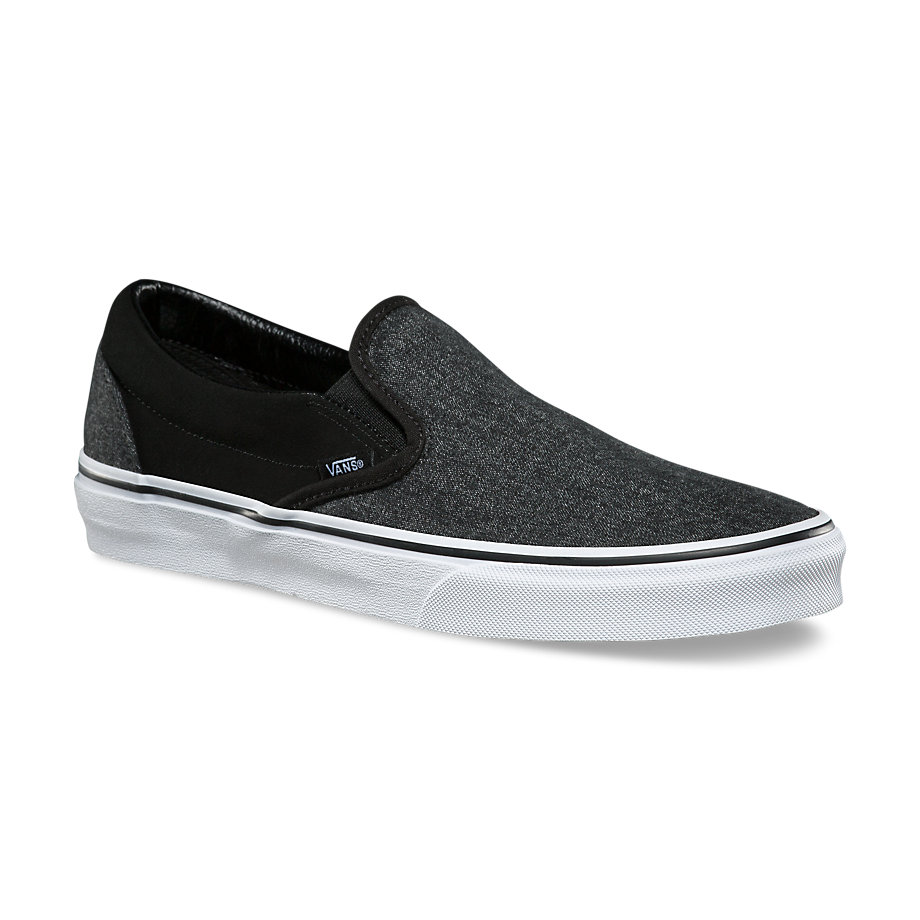 eeaf64093e Classic Slip-On - (Suede   Suiting) BlackMens - Flying Point Surf