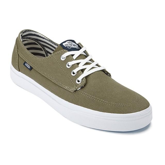 a6efb78f1234d9 Vans Mens Brigata Deck Club Sneakers Covert Green 6.5 New