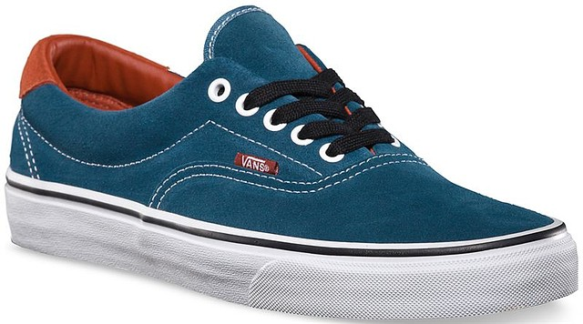 ff1db20b7d66d9 Vans Mens Era 59 Sneakers Eathtone Suede Indian Teal Blue 7.5 New ...