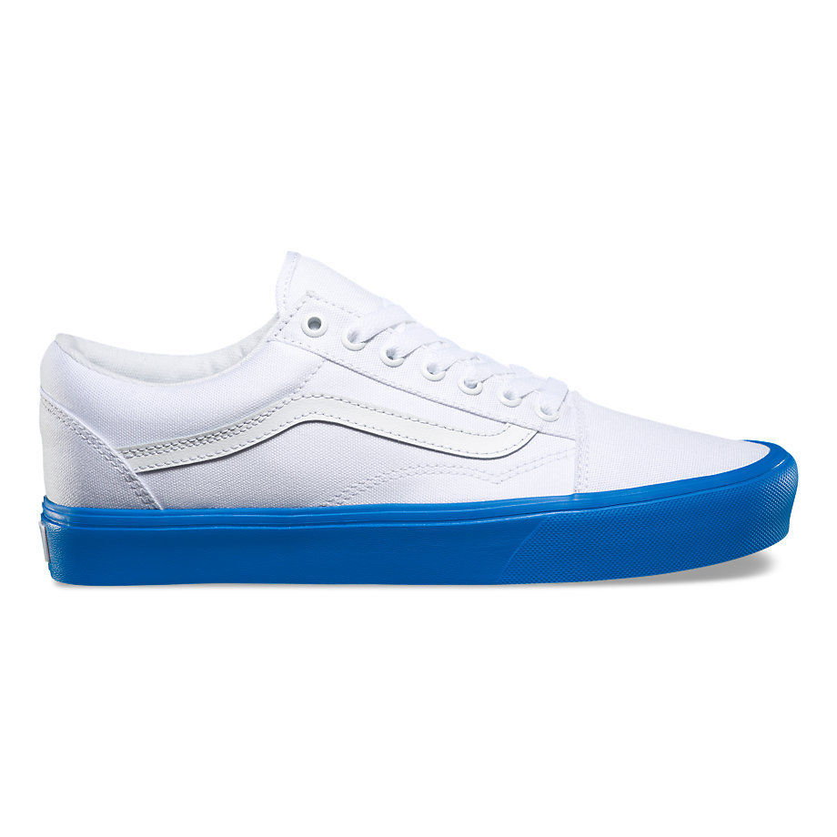 e7094269395 Old Skool Lite - (Pop Sole) True White BlueMens - Flying Point Surf