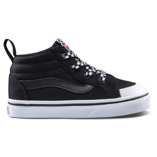 Vans Racer Mid (Check Lace) Black / True White