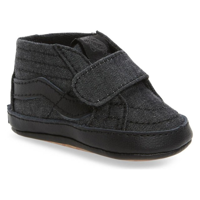 Vans Sk8-Hi Crib (Mono Chambray) Black