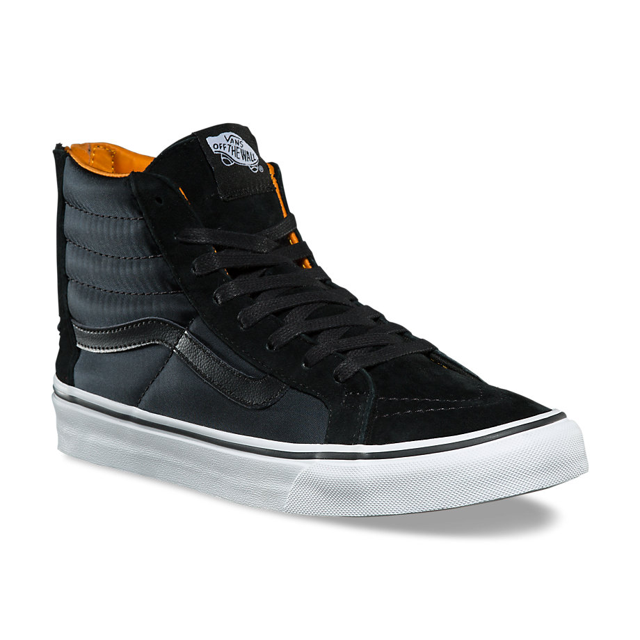 0acd91e9c2c098 Sk8-Hi Slim Zip - (Boom Boom) Black  True WhiteWomens - Flying Point ...