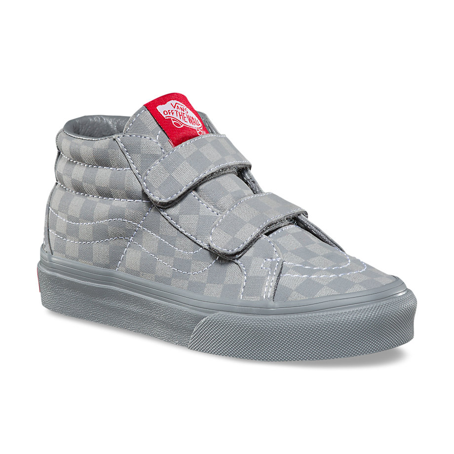 ff6d302705e Sk8-Mid Reissue V Sneaker - (Mono Checkerboard) Gray   GrayBoys ...
