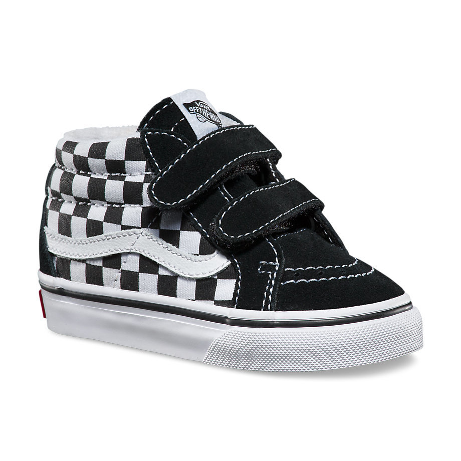 1d3deb9924 Sk8-Mid Reissue V - (Checkerboard) Black True WhiteBoys - Flying ...