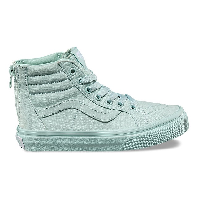 ff672b5b4a Details about Vans TODDLER Girls Sk8Hi Zip Sneakers Mono Harbor / Grey  Glitter 9 New