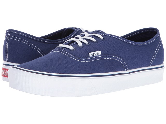 Details about Vans Womens Authentic Lite Sneakers Blue Depths (Canvas) 5 New