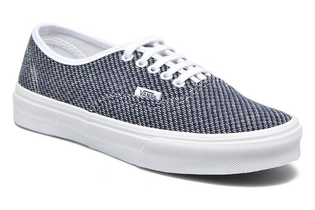 c50cc96c7c Vans Womens Authentic Slim Jersey Sneakers Navy True White 5 New