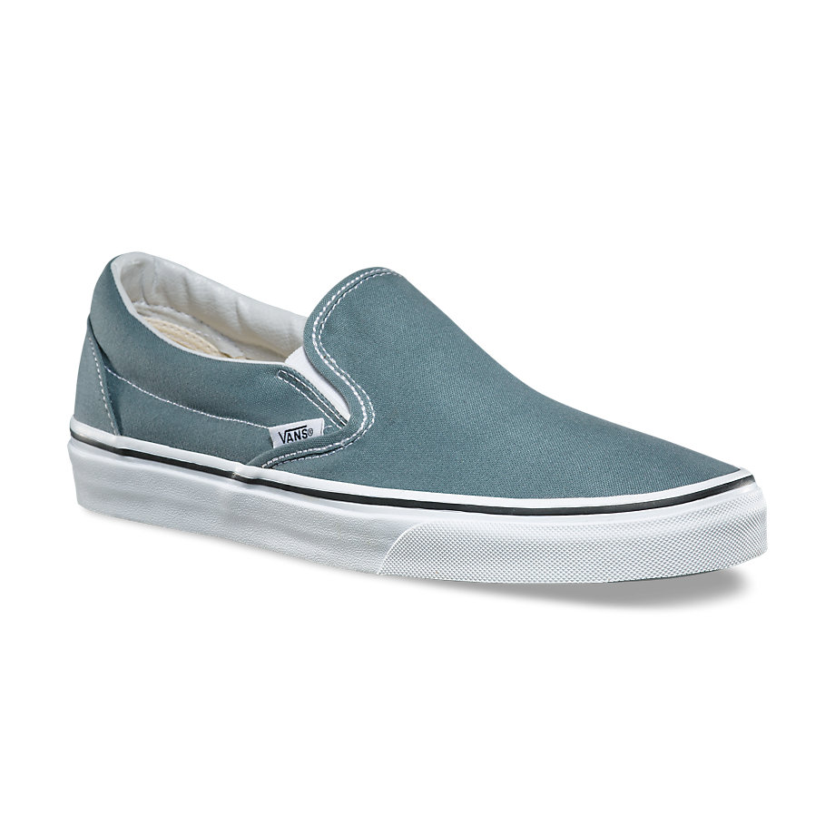 blue slip on vans womens