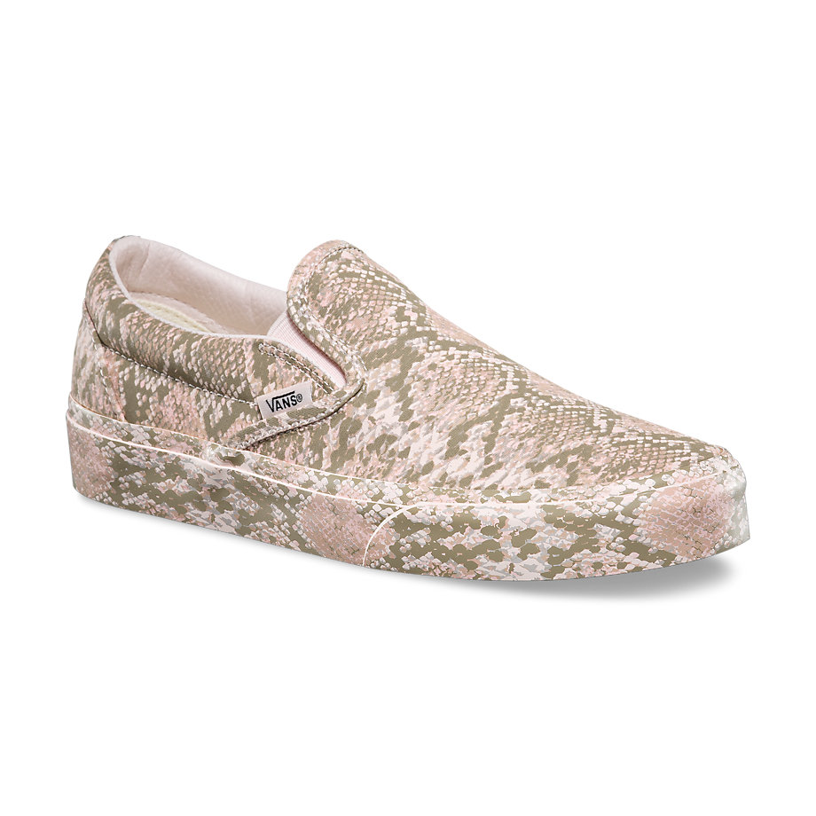 3a45cb297b Womens Classic Slip-On - (Mono Print) SnakeWomens - Flying Point Surf