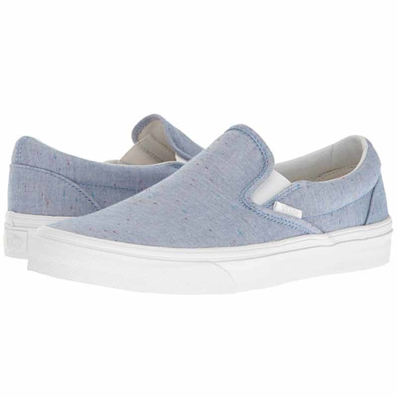 7a1ff5cc26 Womens Classic Slip-On - Speckle Jersey Blue True WhiteWomens ...