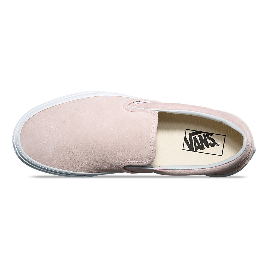 90db30f75af72c Womens Classic Slip-On - (Suede) Sepia RoseWomens - Flying Point Surf