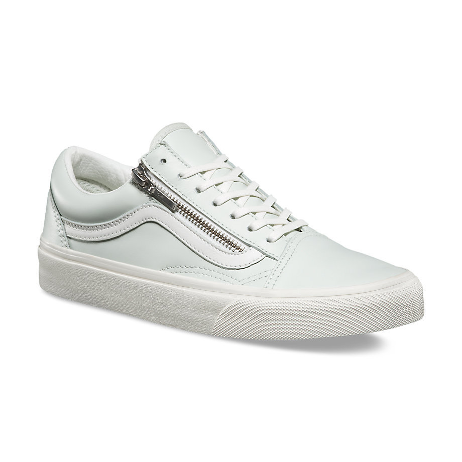 de3858f3f8 Womens Old Skool Zip - (Leather) Zephyr Blue/True WhiteWomens ...