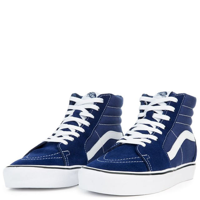 5a27f5894376ea Vans Womens Sk8-Hi Lite Sneakers Suede Canvas Blue Depths Size 5 New ...