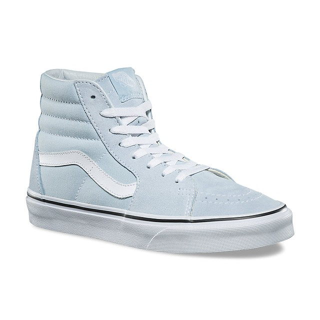 Vans Womens Sk8-Hi Baby Blue/True White
