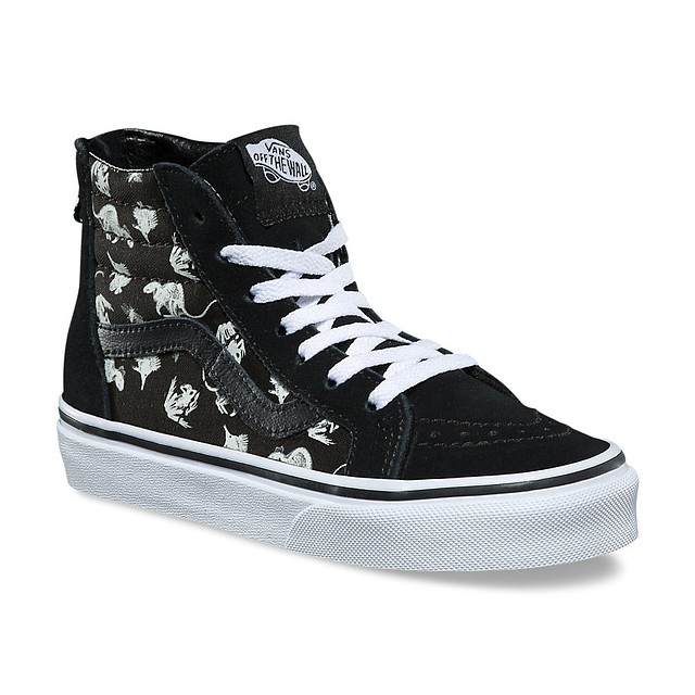 4518f02c22  42.00 29.25 ·  p Vans Youth SK8-Hi (Xray Vision) Black   True White
