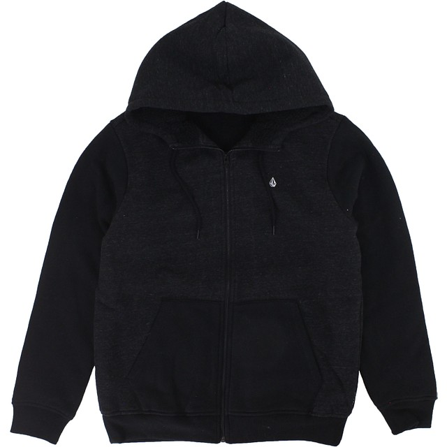 Volcom Single Stone Lined Hoodie Sulfur Black