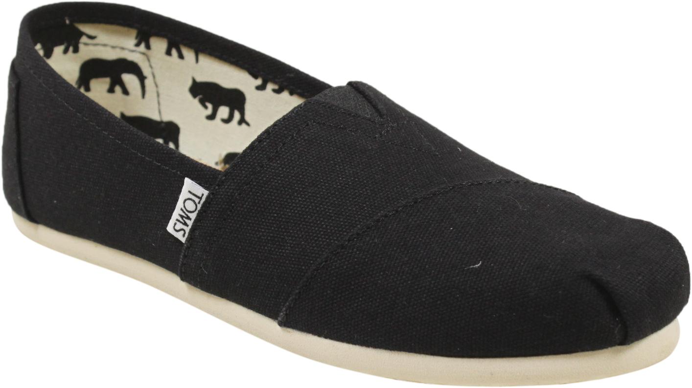 95b0a6339892 Footwear · Womens · Slip Ons · Womens Classics - Black Canvas