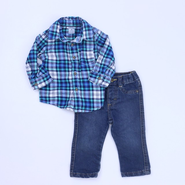Wrangler 3-6 Months One Piece Blue Plaid One-pieces Clothing, Shoes & Accessories