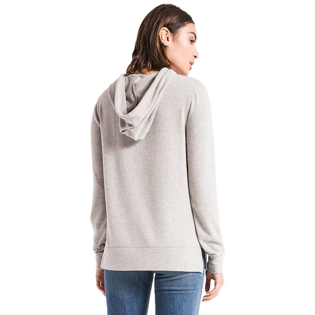 The Soft Spun Knit Hoodie - Heather Grey