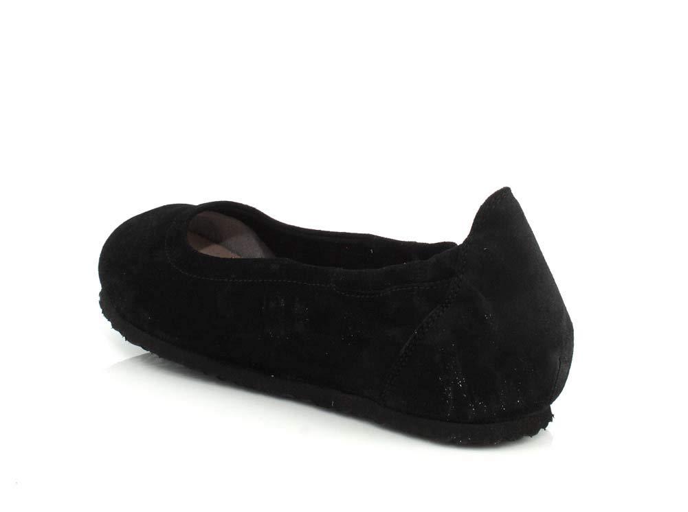 BIRKENSTOCK Celina II Suede Leather Shoes Black FashiON7