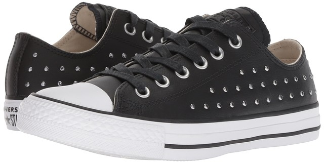 Details about Converse Chuck Taylor All Star Ombre Stud Ox Sneakers Black Black Silver New